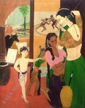 """Gokula's Dream Home in Vrindavan"" – Rasa Masterpiece"