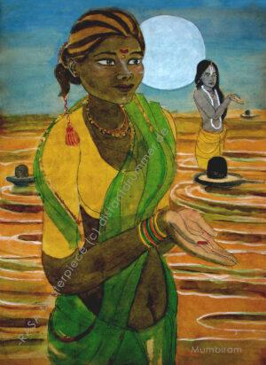 """Worshipper at the Ganga in Varanasi"" – Rasa Masterpiece"